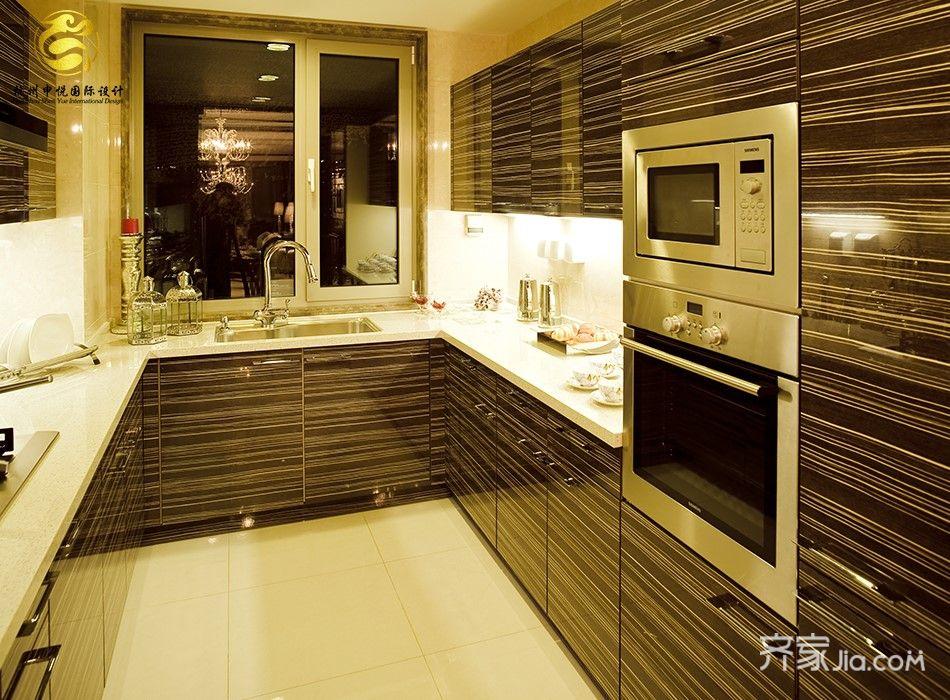 现代欧式混搭四居厨房装修效果图