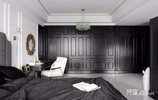 黑白现代轻奢风装修衣柜设计图