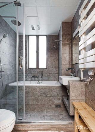 110平日式风格二居卫生间装修效果图