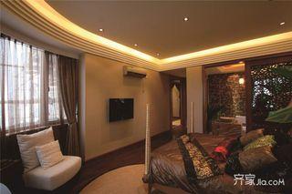 东南亚风格大户型装修卧室吊顶效果图