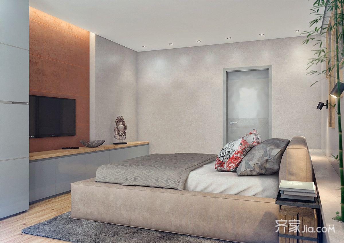 北欧工业风公寓卧室装修设计效果图