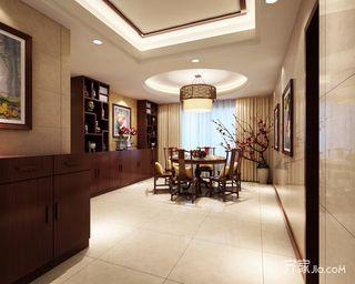 138平中式风格四居餐厅装修效果图