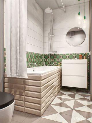 小户型一居公寓卫生间装修效果图