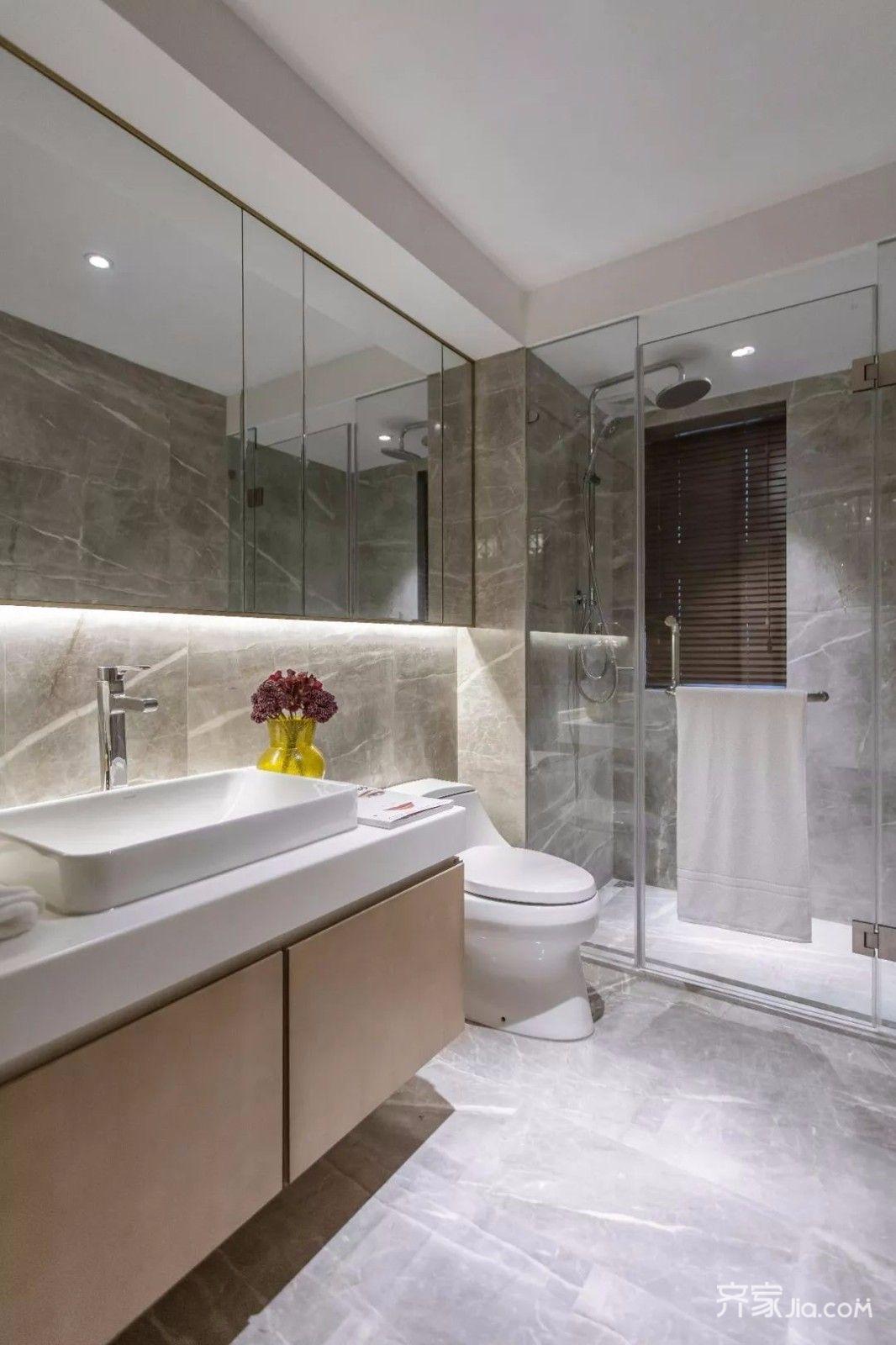 时尚现代三居室卫生间装修设计效果图
