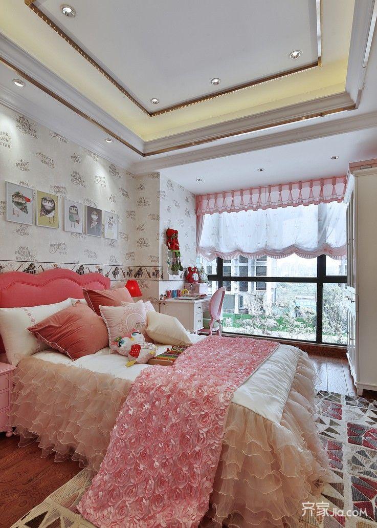 现代欧式风格三居儿童房装修效果图