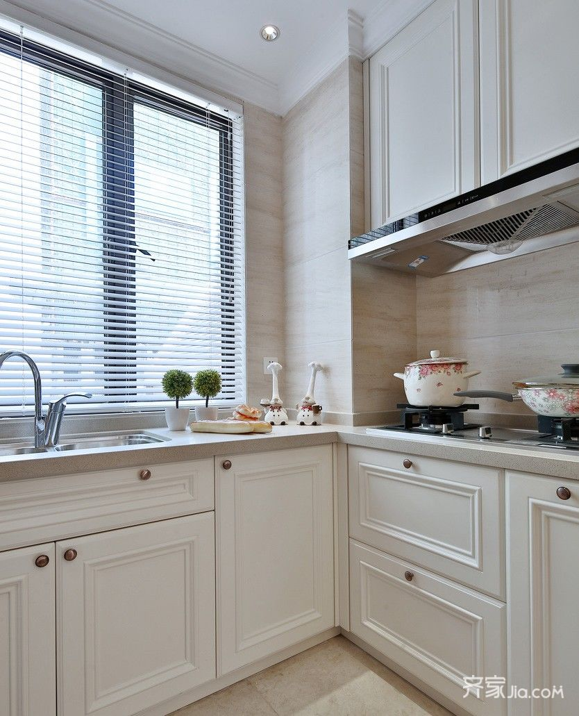 现代欧式风格三居厨房装修效果图