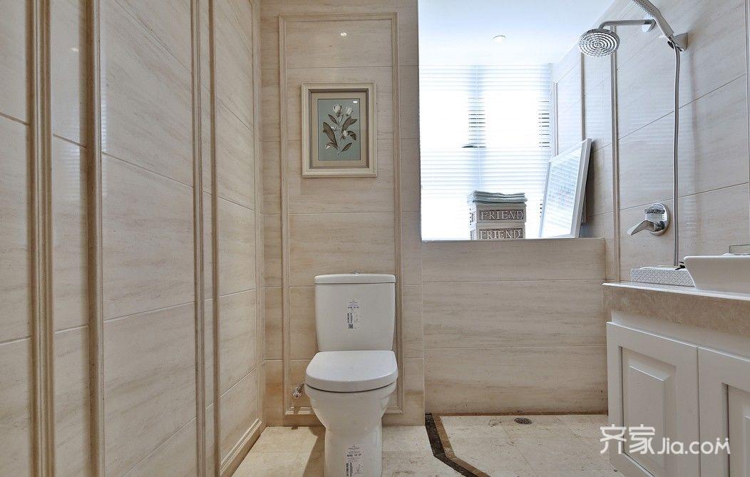 现代欧式风格三居卫生间装修效果图