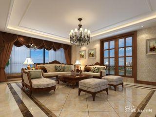 170平米美式风格客厅装修效果图