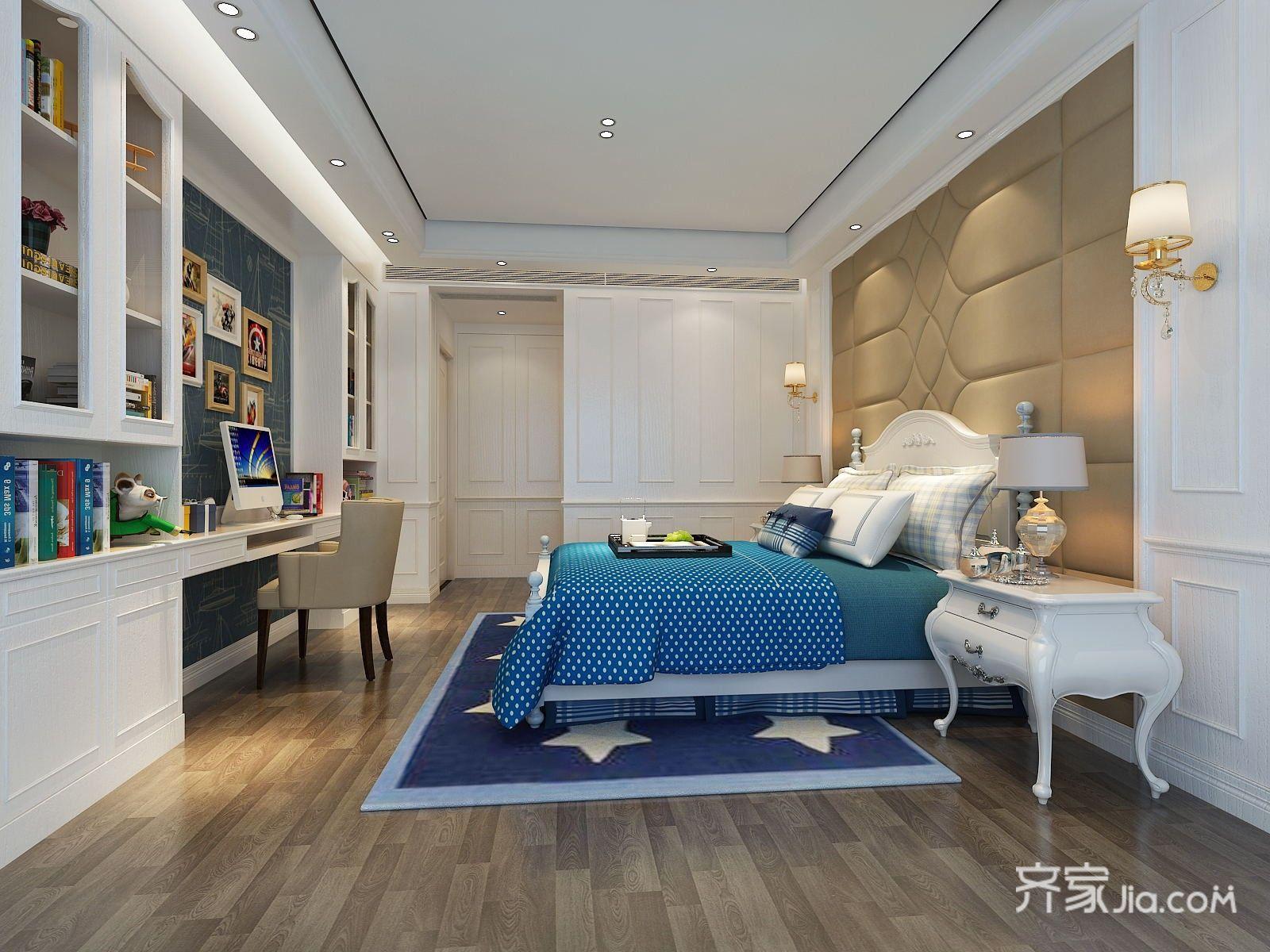 欧式风格复式别墅卧室装修效果图