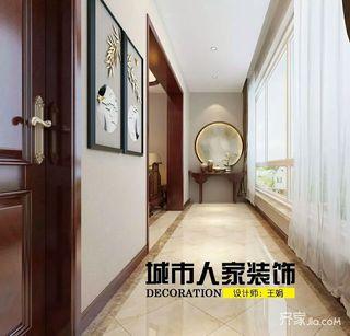 大户型中式别墅玄关装修效果图