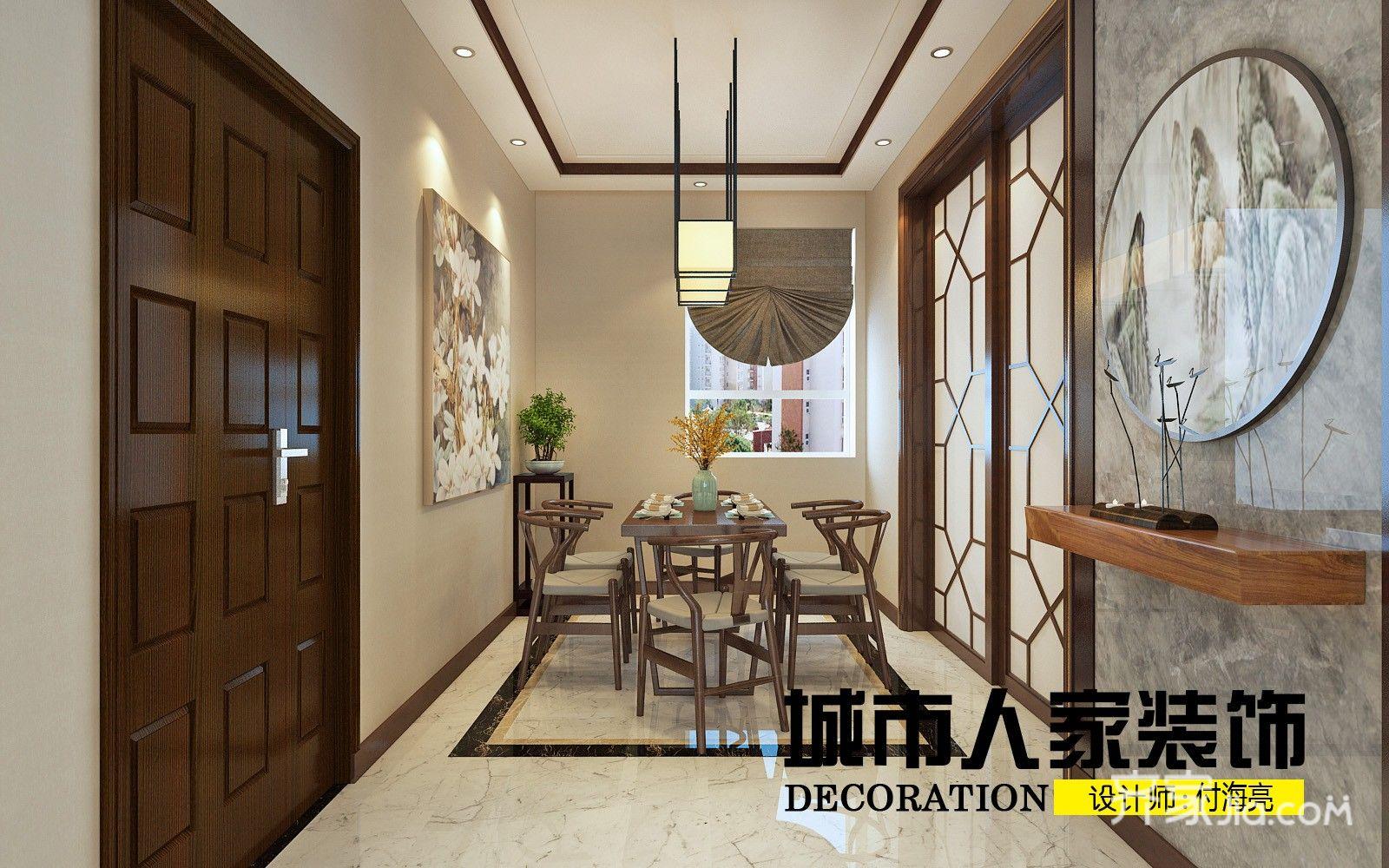 220㎡新中式复式装修餐厅效果图