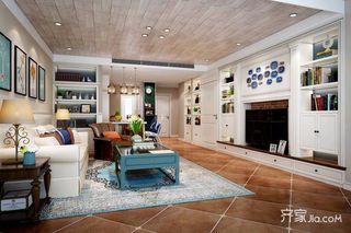 135平美式风格三居装修效果图
