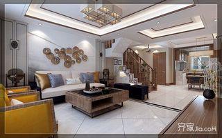 140平新中式三居装修效果图