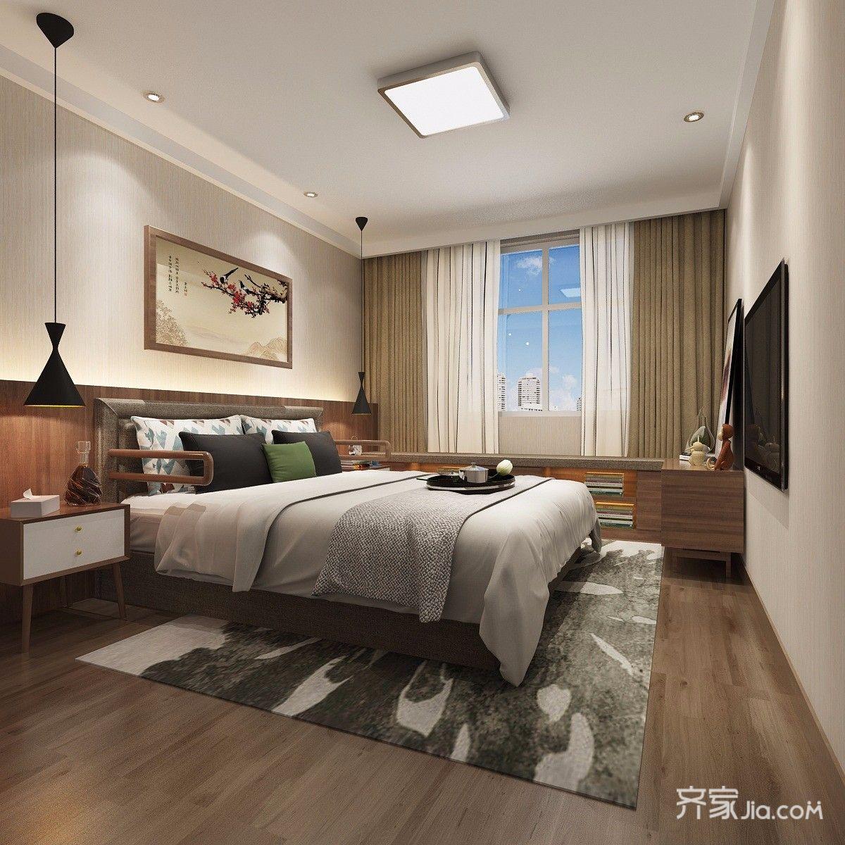 新古典风格四居卧室装修效果图