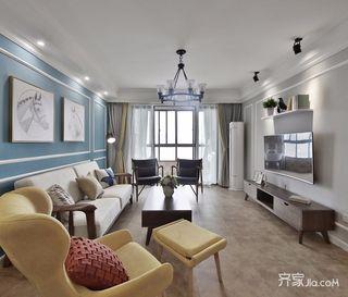 96平美式风格两居装修效果图