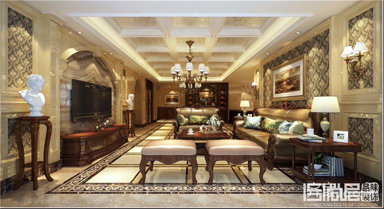 180㎡欧式风格四居客厅装修效果图