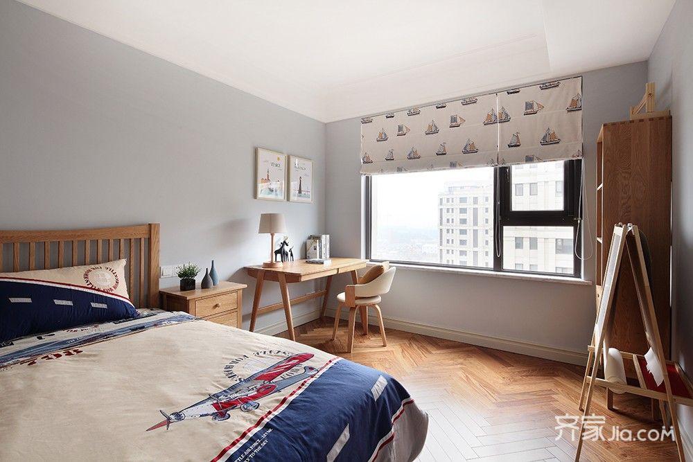 125平简约中式三居卧室装修搭配图