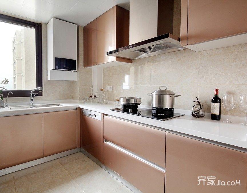 125平简约中式三居厨房装修效果图
