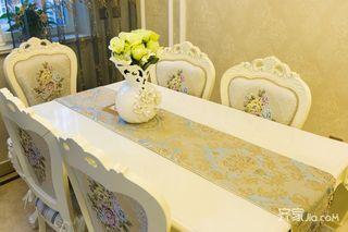 110平欧式风格三居装修餐桌椅设计图