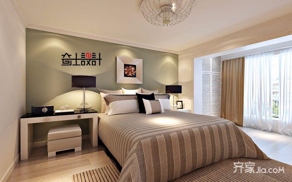 90㎡现代简约复式装修卧室效果图