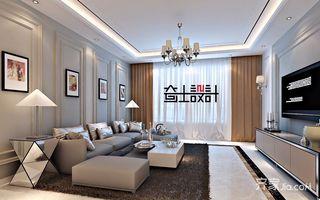 120㎡新古典风三居客厅装修效果图