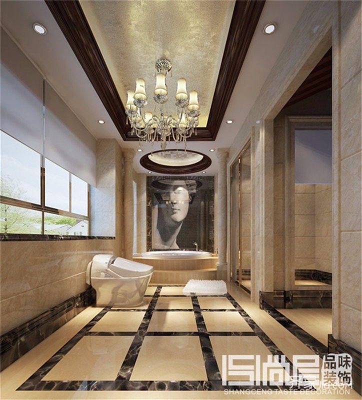 欧式大户型豪华别墅卫生间装修效果图