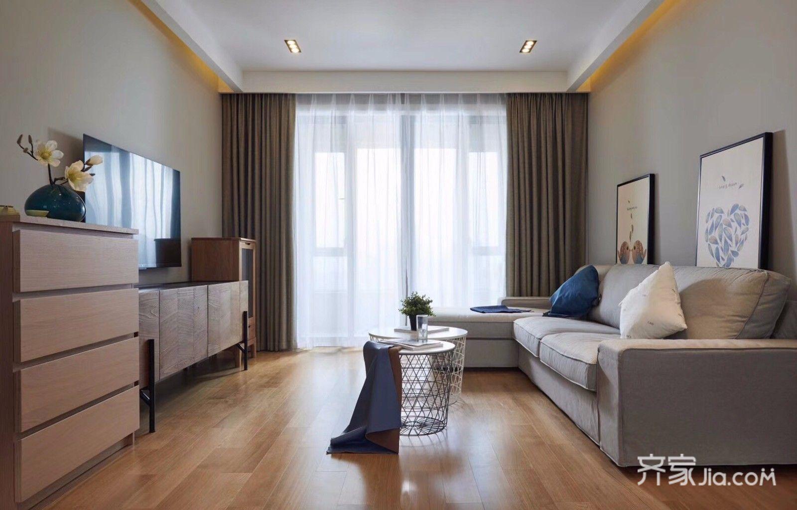 98平北欧三居客厅装修设计效果图