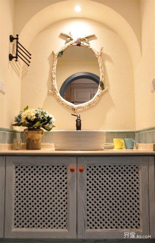 小户型地中海风两居洗手台装修效果图