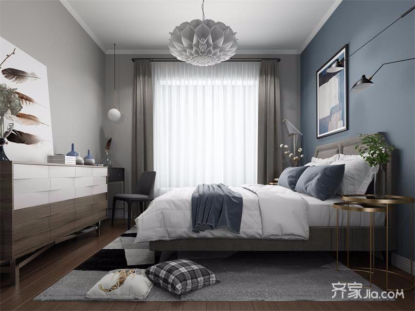 小户型宜家风二居卧室装修效果图