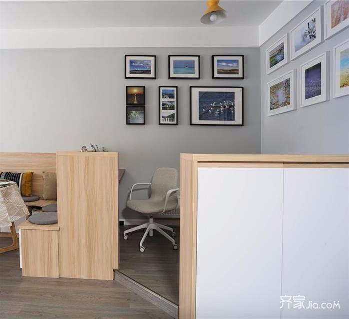 小户型宜家风二居装修照片墙效果图
