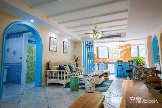 133平米地中海风格客厅每日首存送20