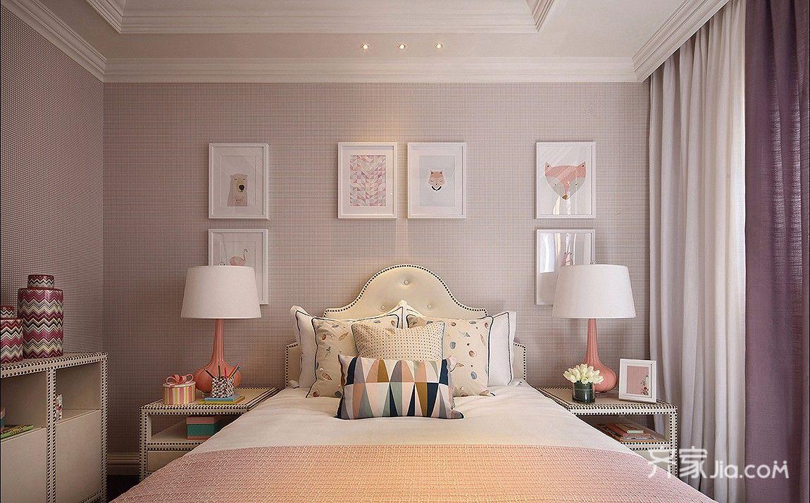 大户型简美风格卧室装修设计图