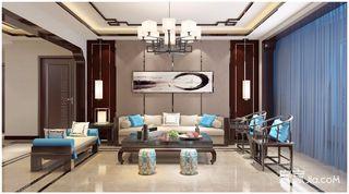 新中式风格四居装修设计效果图