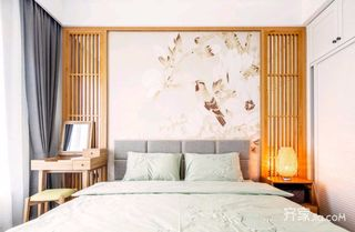 日式风格二居卧室装修设计效果图