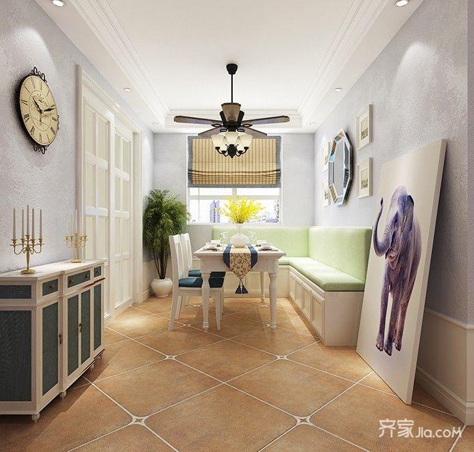 145平米三居室餐厅装修效果图