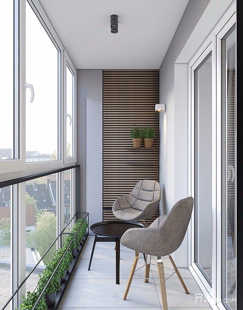130平现代风格四居阳台装修效果图