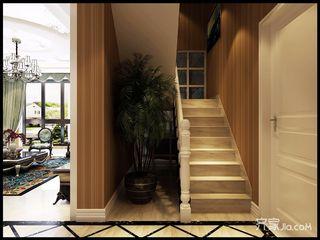 古典欧式别墅楼梯间装修效果图