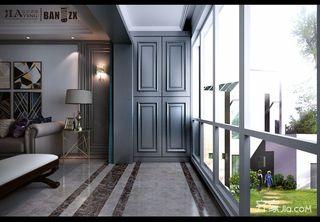 140㎡美式三居室阳台装修效果图