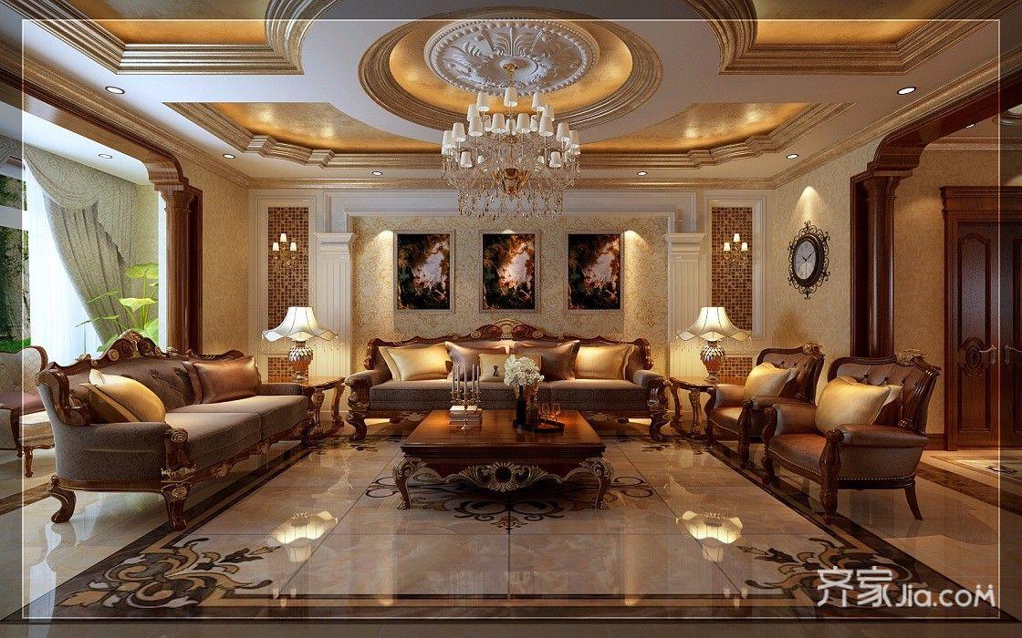 古典欧式豪华别墅装修效果图