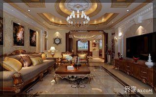 古典欧式豪华别墅客厅装修效果图