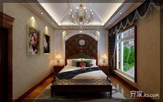 古典欧式豪华别墅装修床头软包效果图