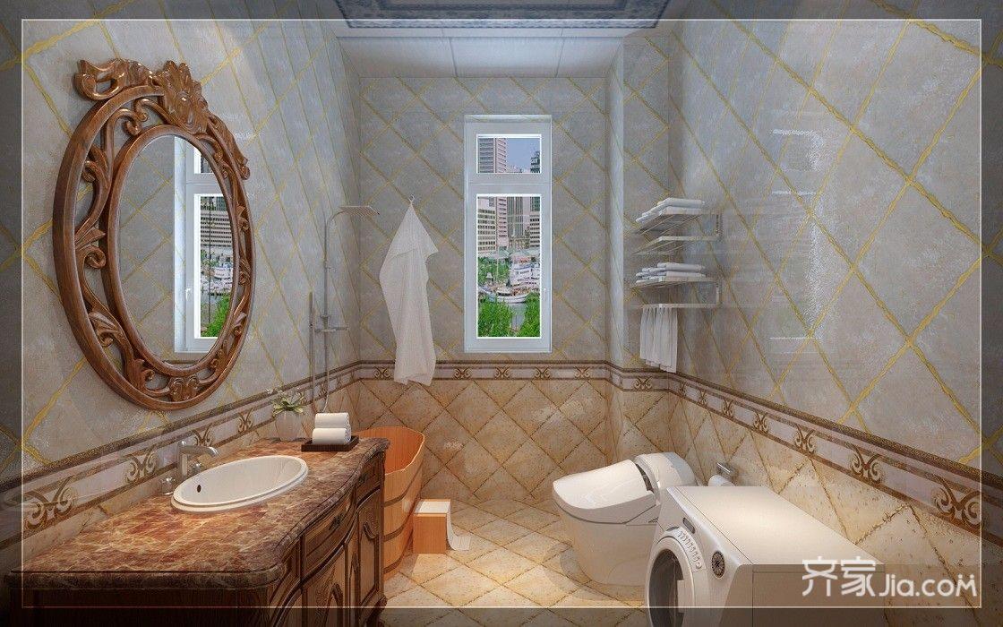 古典欧式豪华别墅装修卫生间装潢图