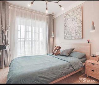 北欧风格两居室装修窗帘效果图