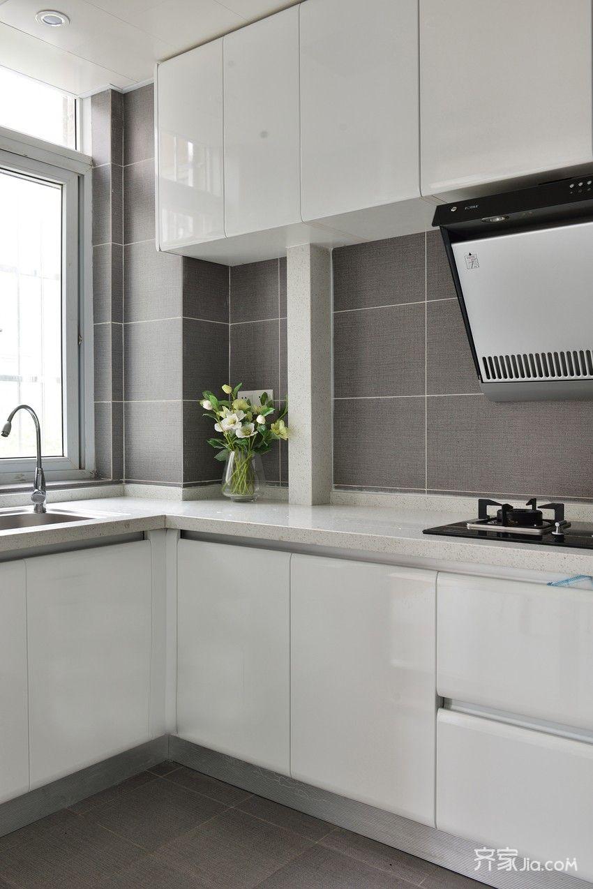 现代三居厨房装修效果图
