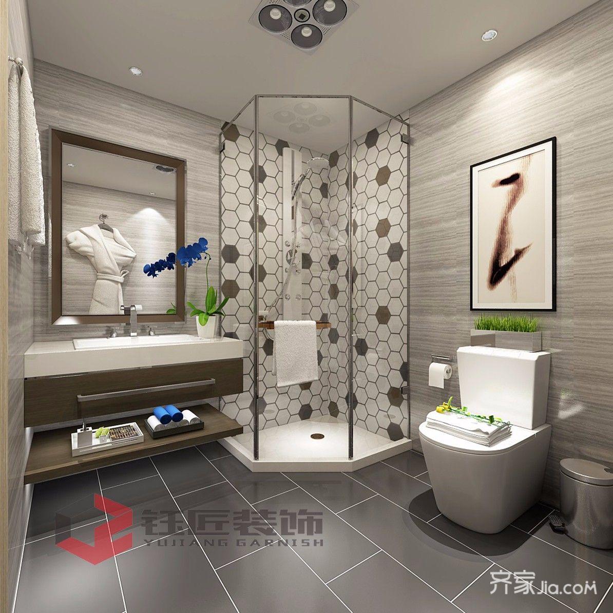 400平奢华风格别墅装修淋浴房设计图