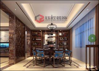 豪华新中式风格别墅餐厅装修效果图