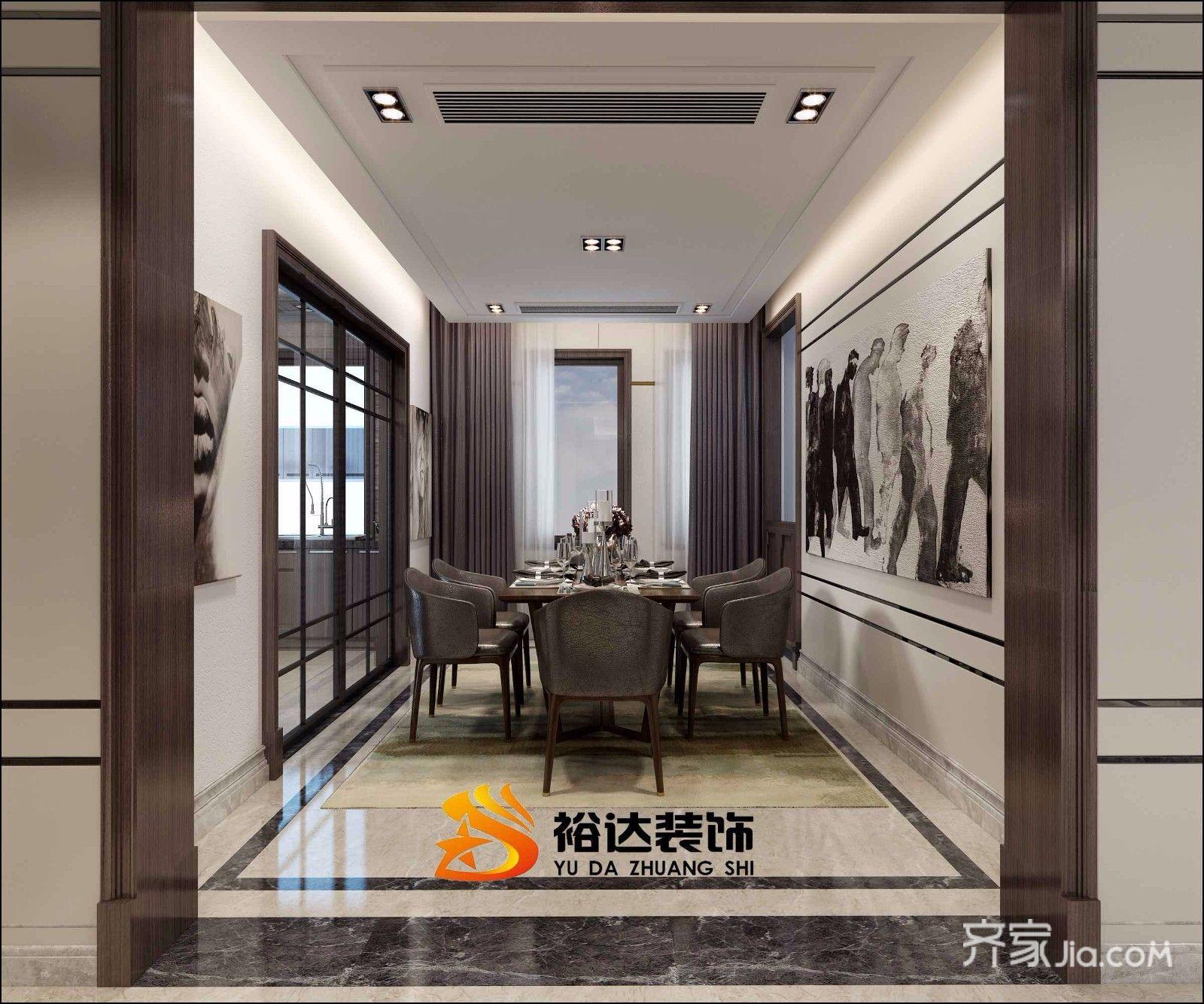 简约风格复式公寓餐厅装修效果图