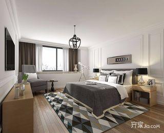 136平现代简约三居装修卧室搭配图