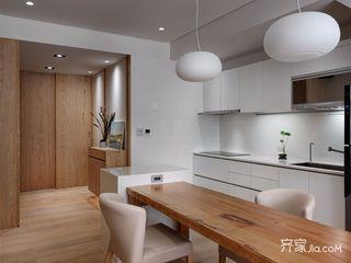 150平原木简约风厨餐厅装修效果图