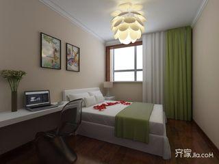 110平中式风格三居卧室装修效果图